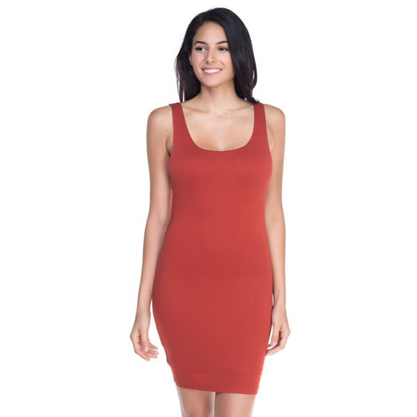 Basic Solid Color Sleeveless Dress - Available in 7 Colors