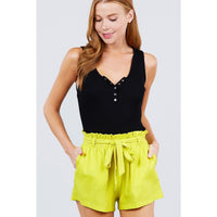 Paper Bag Bow Tie Shorts - 7 Colors to Choose From!