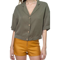 Boxy Button Down Shirt