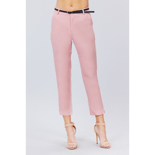 Classic Woven Pants w/Belt - 8 Colors to Choose From!