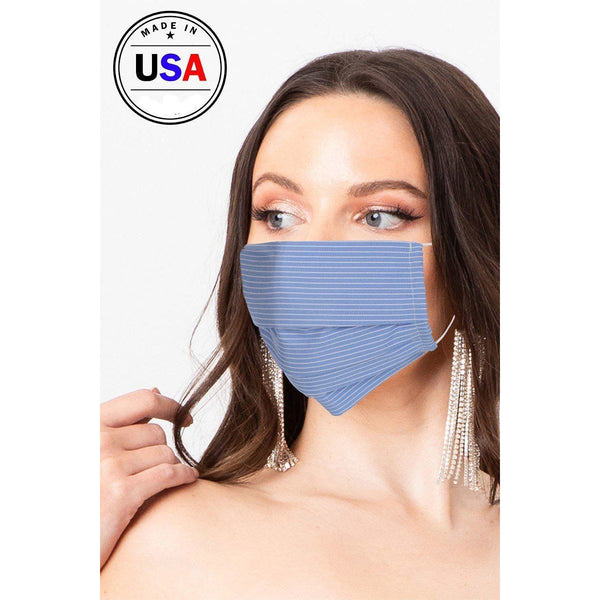Blue Reusable Breathable Fabric Face Mask