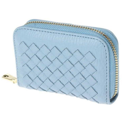 Zip Around Multi-Slot Braided Card Case