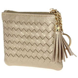 Braided Zip Top Coin and Key Wallet
