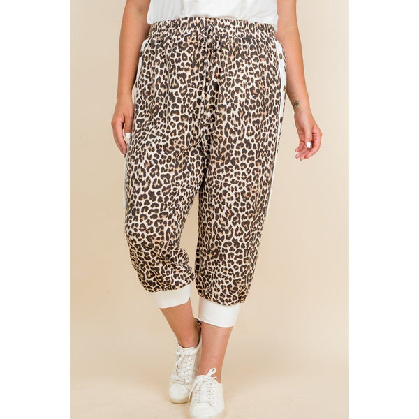 Plus Size French Terry Cropped Jogger Pants