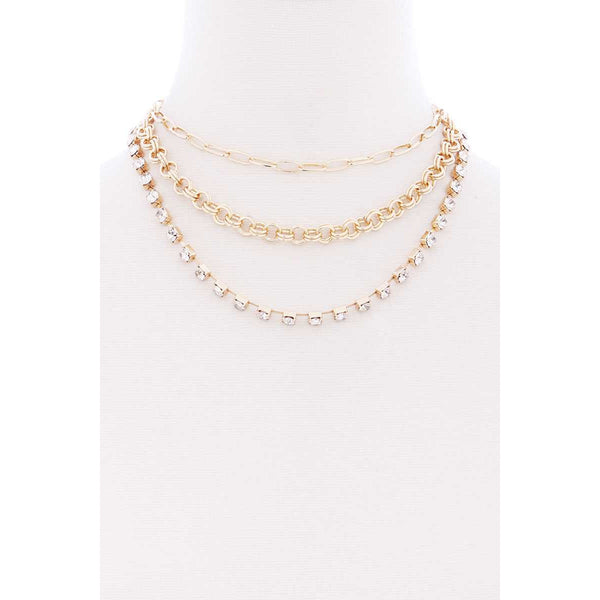 3 Layer Multi-Chain Necklace