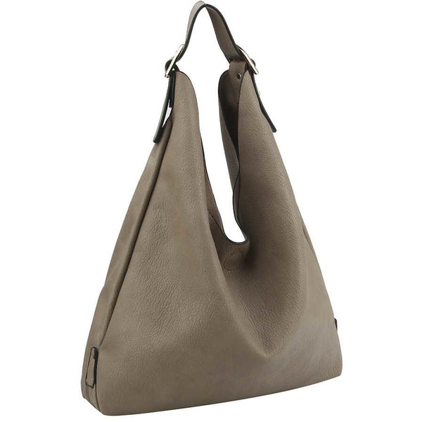 Smooth Texture Buckled Hobo Bag - Available in 4 Colors