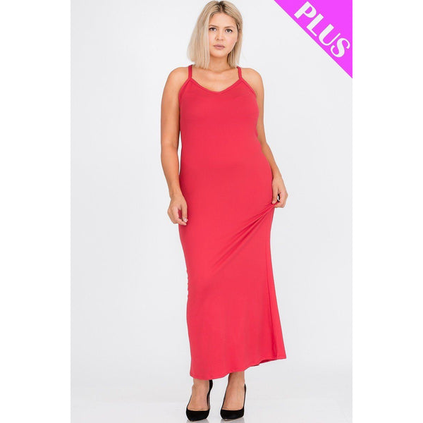 Plus Size Racer Back Maxi Dress - Available in 7 Different Colors