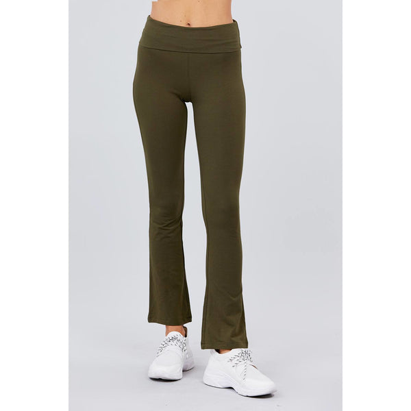 Banded Waist Yoga Pants - Available in 7 Different Colors