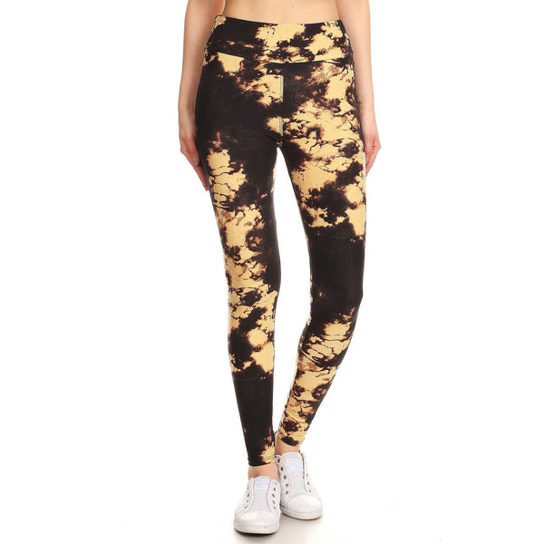 Yoga Style High Waisted Knit Leggings