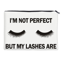'I'm Not Perfect But My Lashes Are' Cosmetics Bag (FREE SHIPPING)