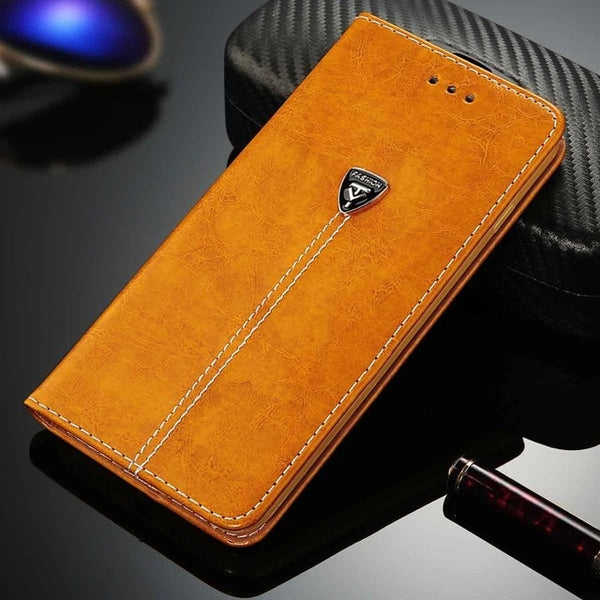 Flip PU Leather Mobile Phone Case/Stand w/Card Slots for iPhone (FREE SHIPPING)