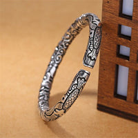 Vintage Sterling Silver Snake Head Bracelet for Men (FREE SHIPPING)