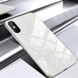 Tempered Glass Shockproof Cell Phone Case for iPhone - 4 Colors (FREE SHIPPING)