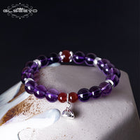 Sterling Silver and Natural Stone Adjustable Bracelet (FREE SHIPPING)