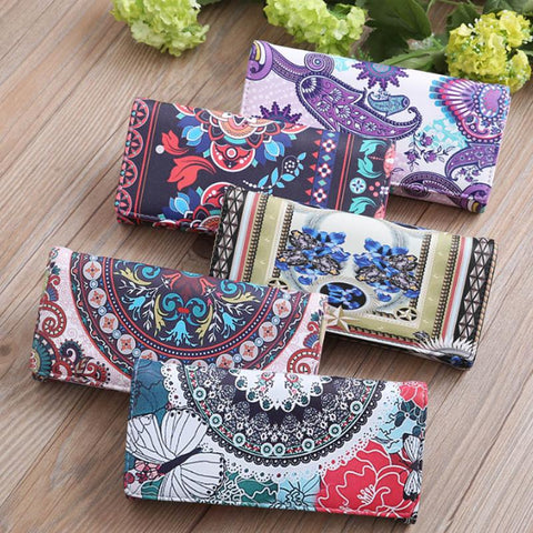 Printed Faux Leather Wallet - 5 Patterns to Choose From!