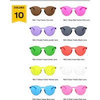 Round Rimless Sunglasses - 10 Colors to Choose From (FREE SHIPPING)