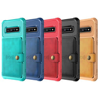 Faux Leather Flip Wallet Mobile Phone Case for Samsung Galaxy - 5 Colors (FREE SHIPPING)