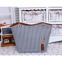 Striped Canvas Shoulder Tote Bag - Comes in 3 Different Colors (FREE SHIPPING)