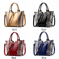 Sequin Embroidered PU Leather Handbag w/Detachable Shoulder Strap - 4 Colors (FREE SHIPPING)