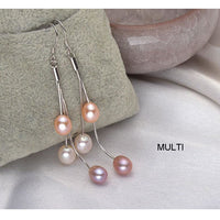 Freshwater Pearl Dangle Earrings - 2 Sizes and Colors (FREE SHIPPING)