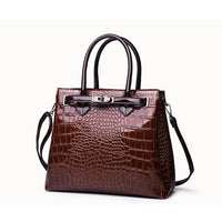 Vintage Designer Croc Handbag w/Shoulder Strap - 3 Colors (FREE SHIPPING)