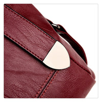 PU Leather Buckle Handbag w/ Detachable Shoulder Strap - 4 Colors (FREE SHIPPING)