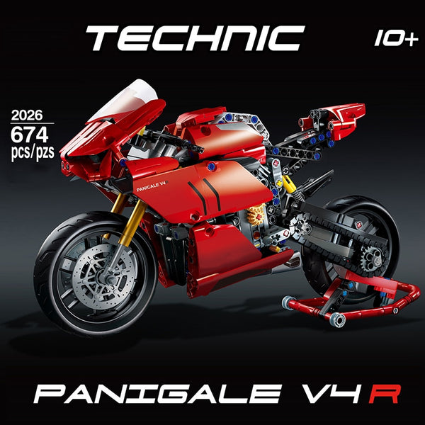 Technic Ducatis Panigale V4R Motorcycle Building Block model (FREE SHIPPING)
