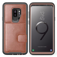 Ultra Slim Soft Silicone & Leather Mobile Phone Case for Samsung Galaxy 9 Series (FREE SHIPPING)