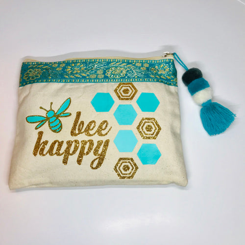 Bee Happy Canvas Bag