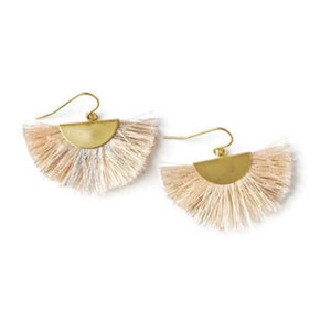 Fan Tassel Earrings - Blush
