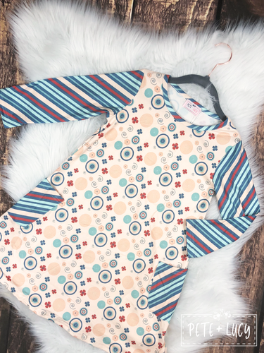 Infant Circle & Stripes Dress