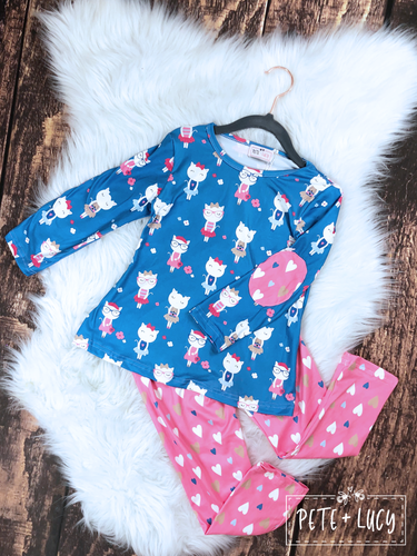Kitty Cat Love Pant Set