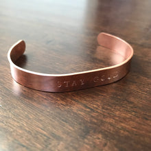 Hand Stamped Copper Cuff Bracelet