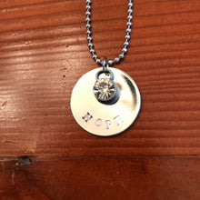 Hand Stamped Silver Necklace