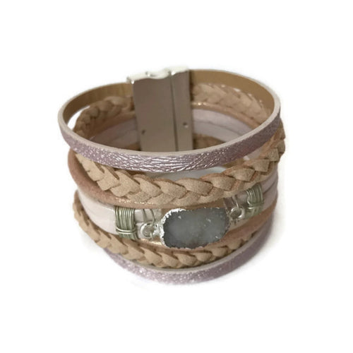 Neutral Leather Bracelet
