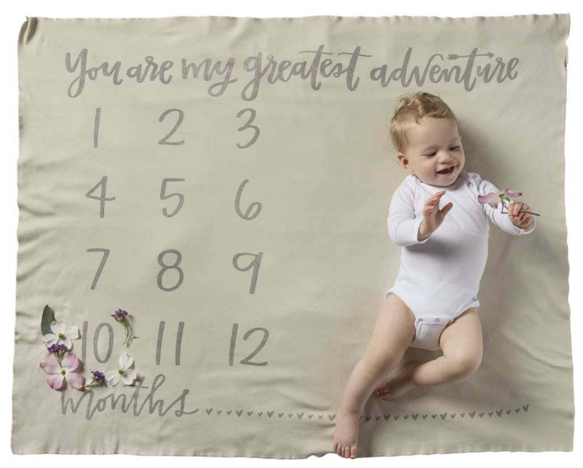 Milestone Blanket - You Are My Greatest Adventure