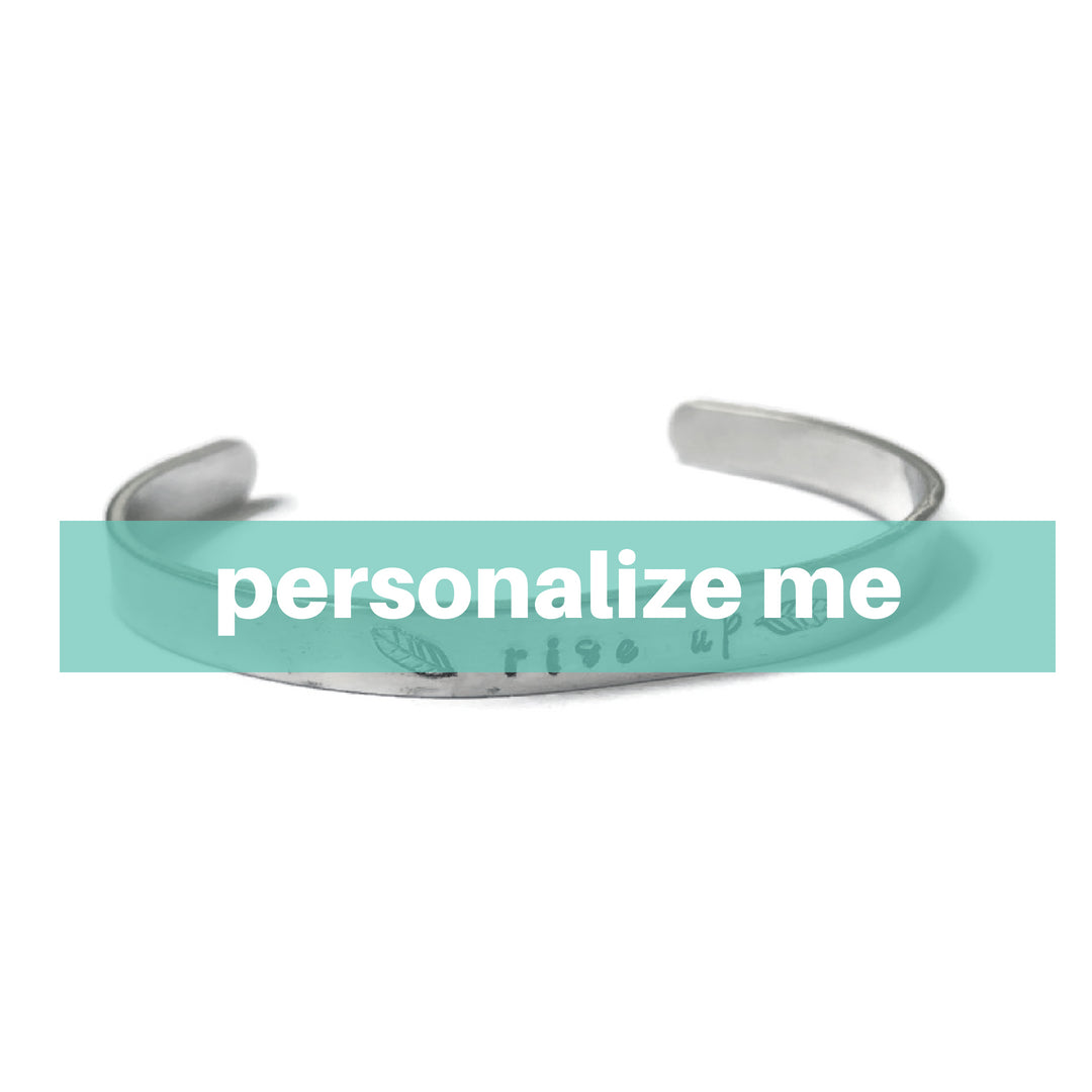 Personalized Hand Stamped Metal Bracelet