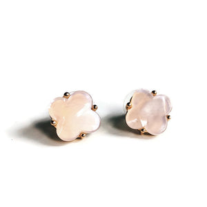 Blush Quatrefoil Stud Earrings