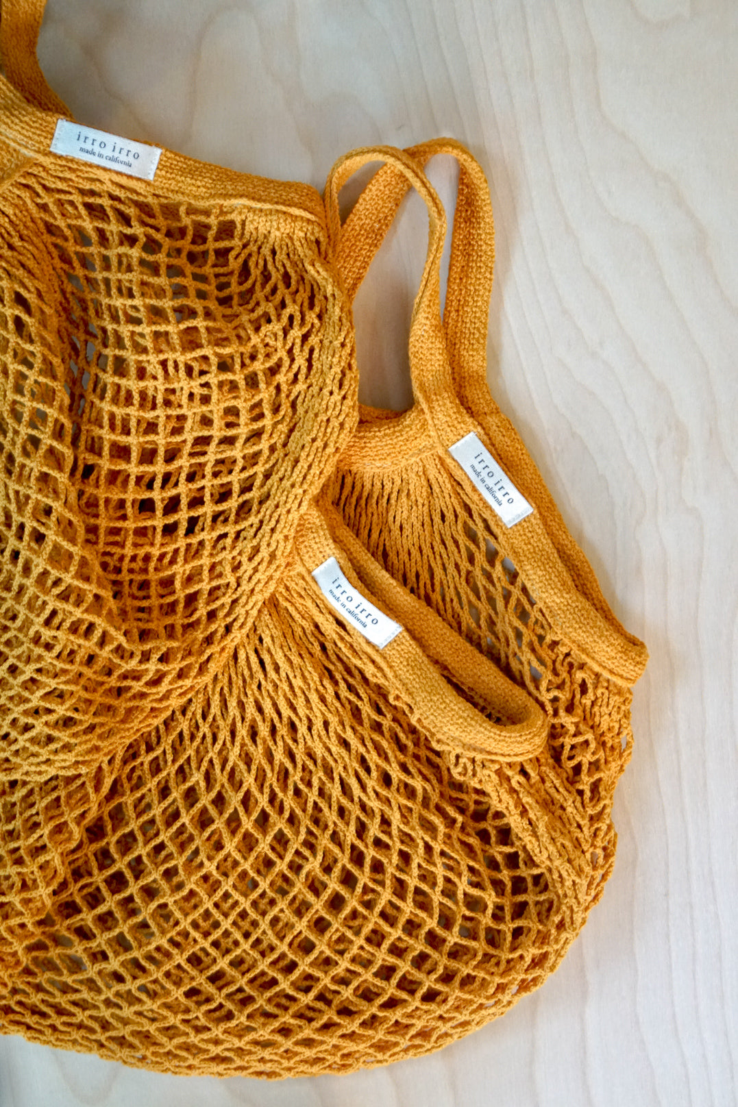 Yellow Onion Hand Dyed Re-Usable Bag