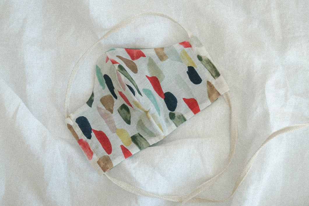 ORGANIC COTTON WATERCOLOR MASK