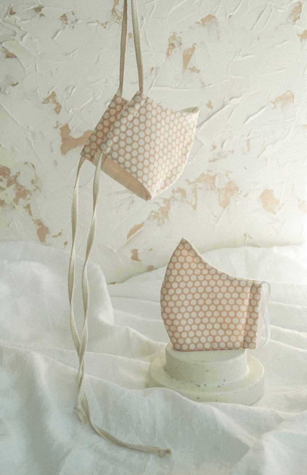 ORGANIC COTTON/DOUBLE GAUZE POLKA DOT MASK