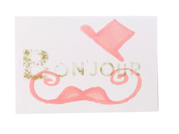 """BONJOUR"" NOTE CARD"