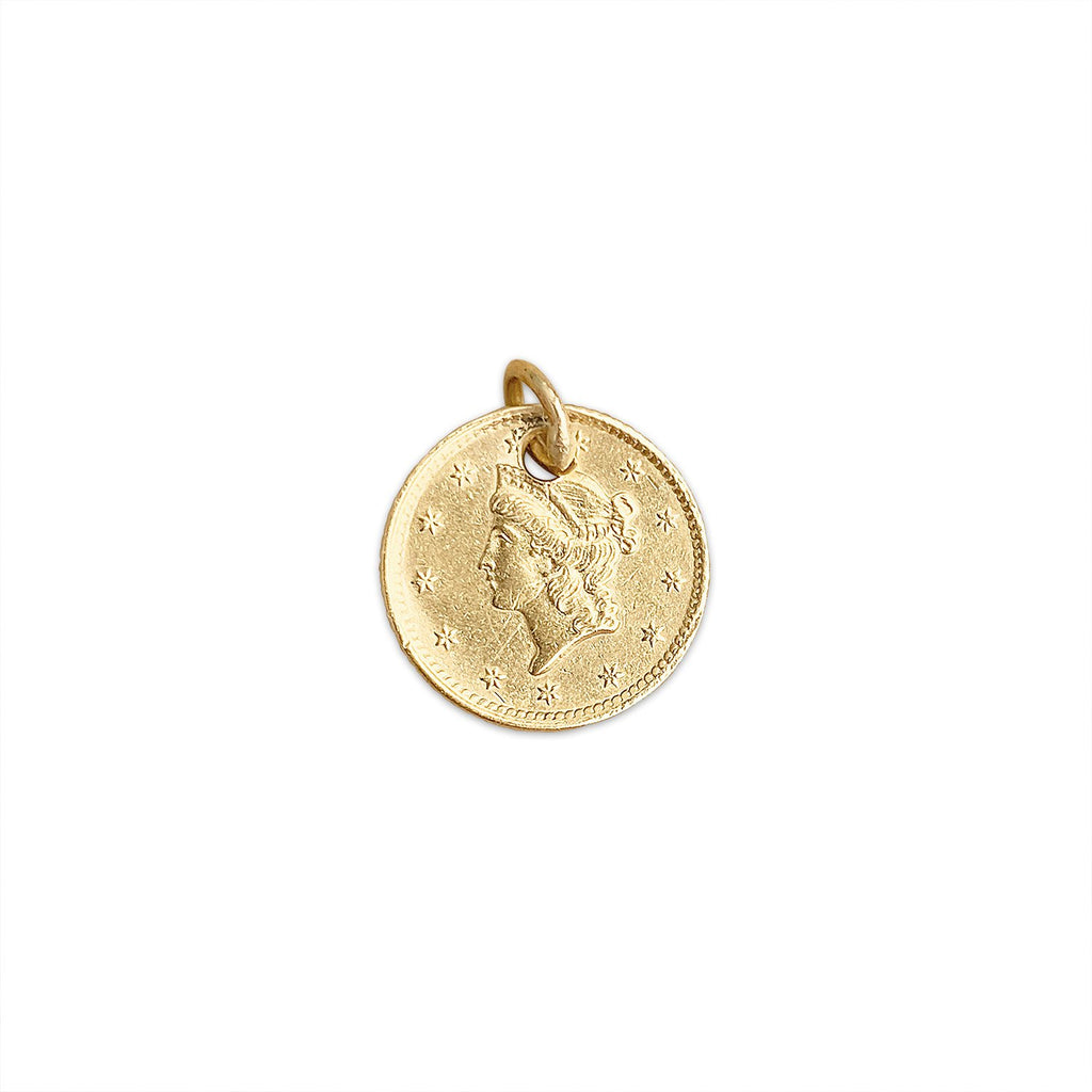 Vintage 1854 $1 Coin Charm