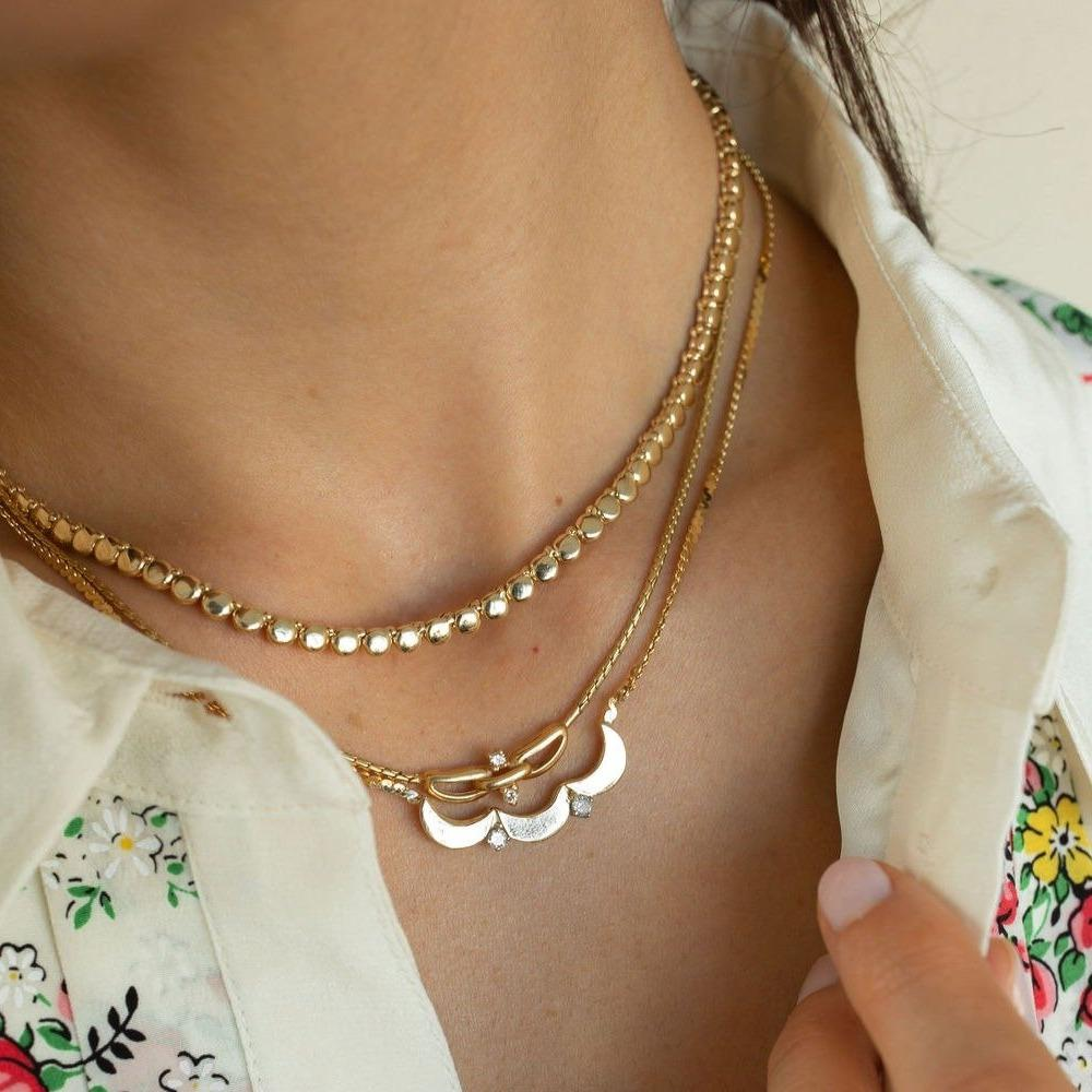 Vintage Scalloped Necklace