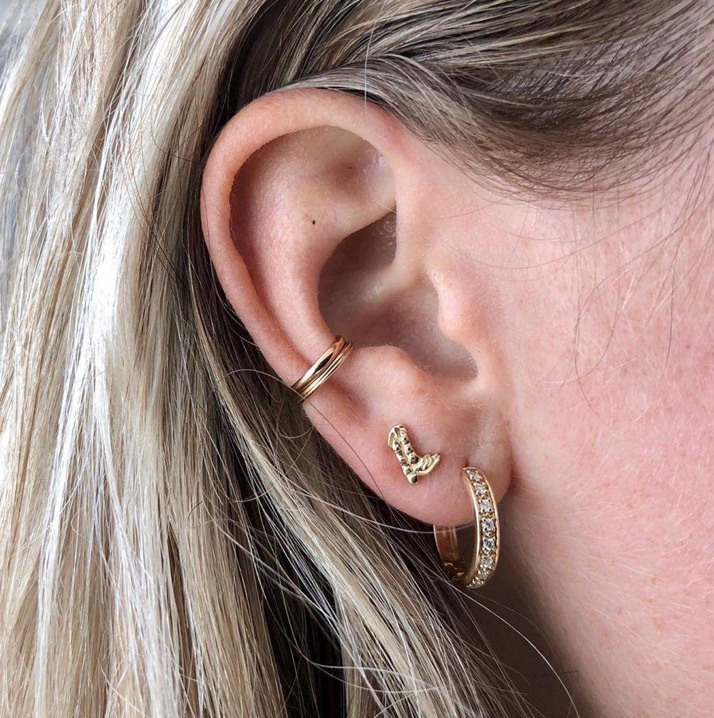 The Cowgirl Boot Little Gold Earrings