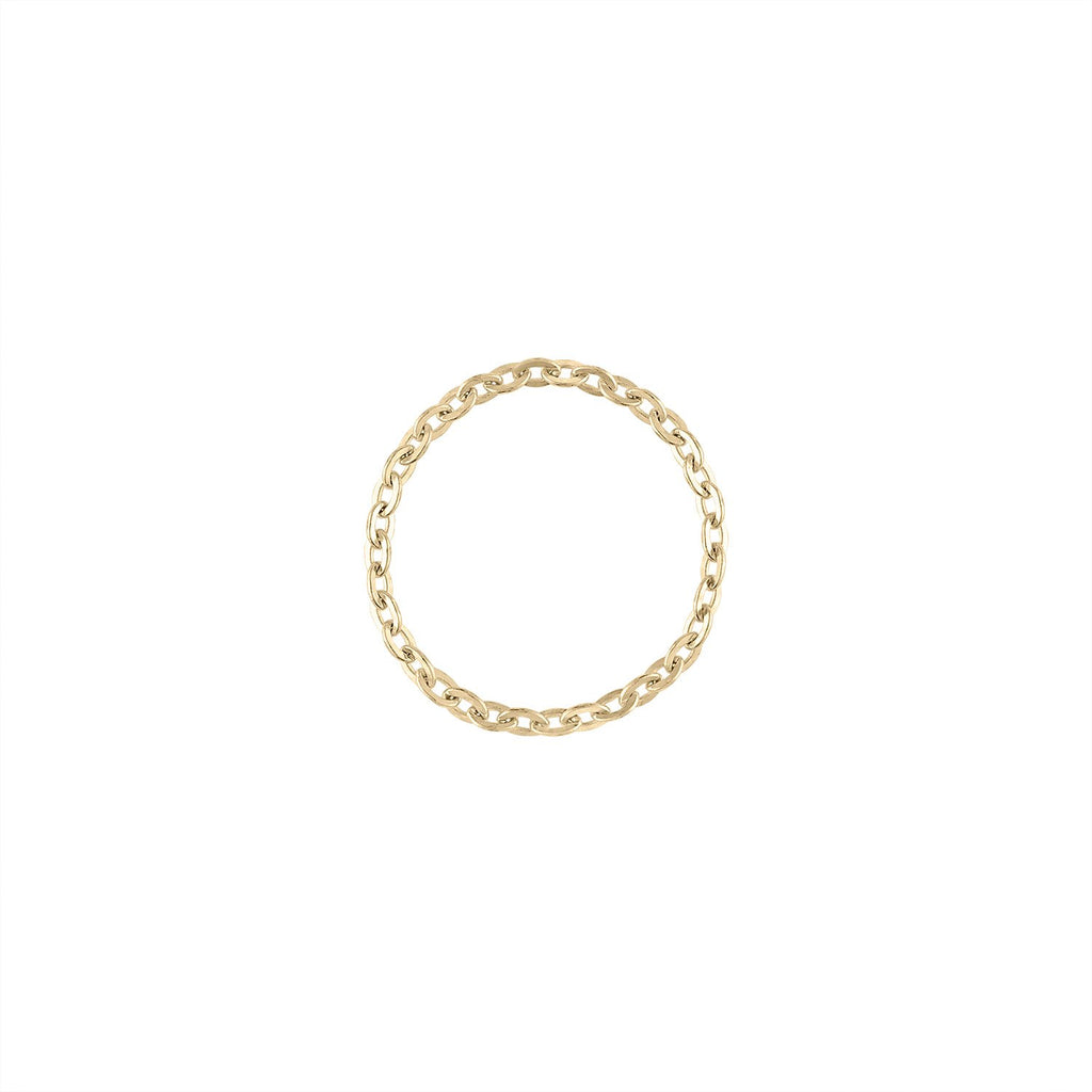 Ball Chain Ring by Fewer Finer
