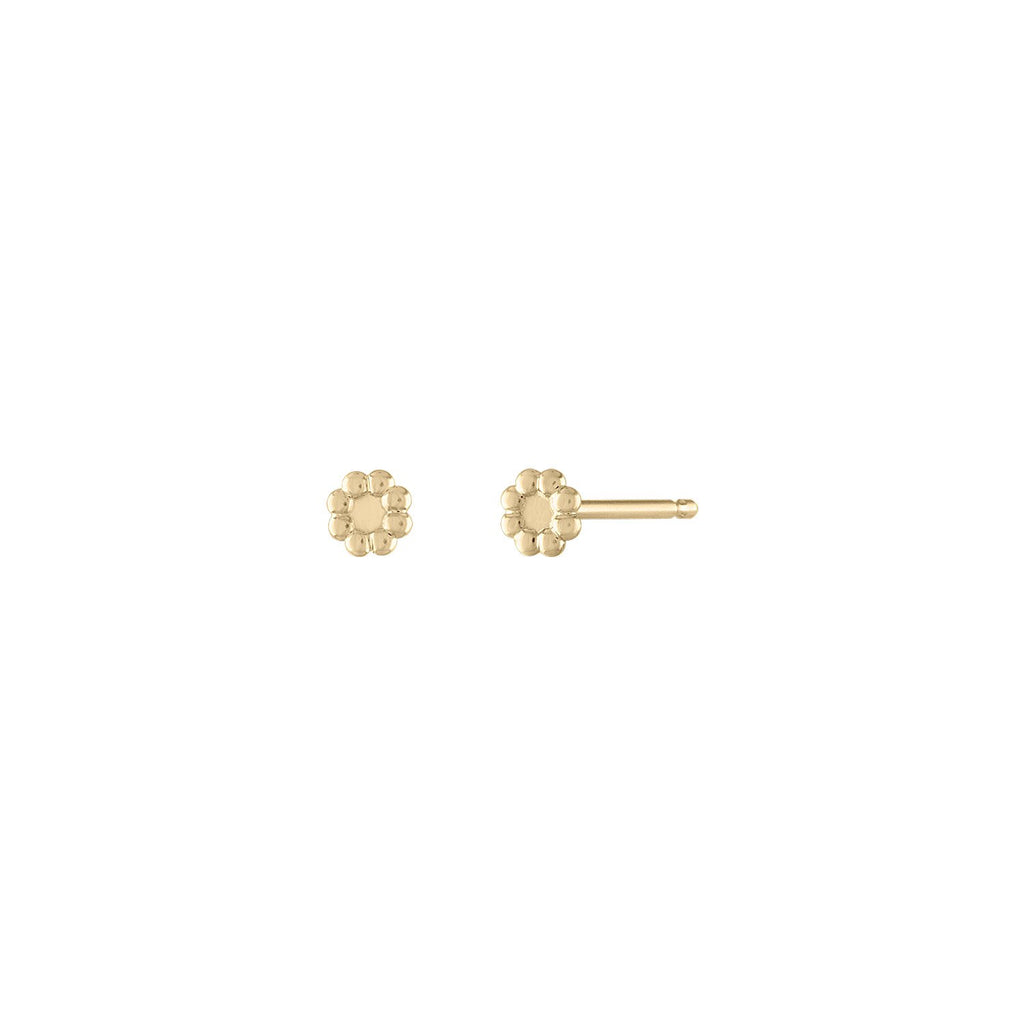 Flower Stud Earrings by Fewer Finer