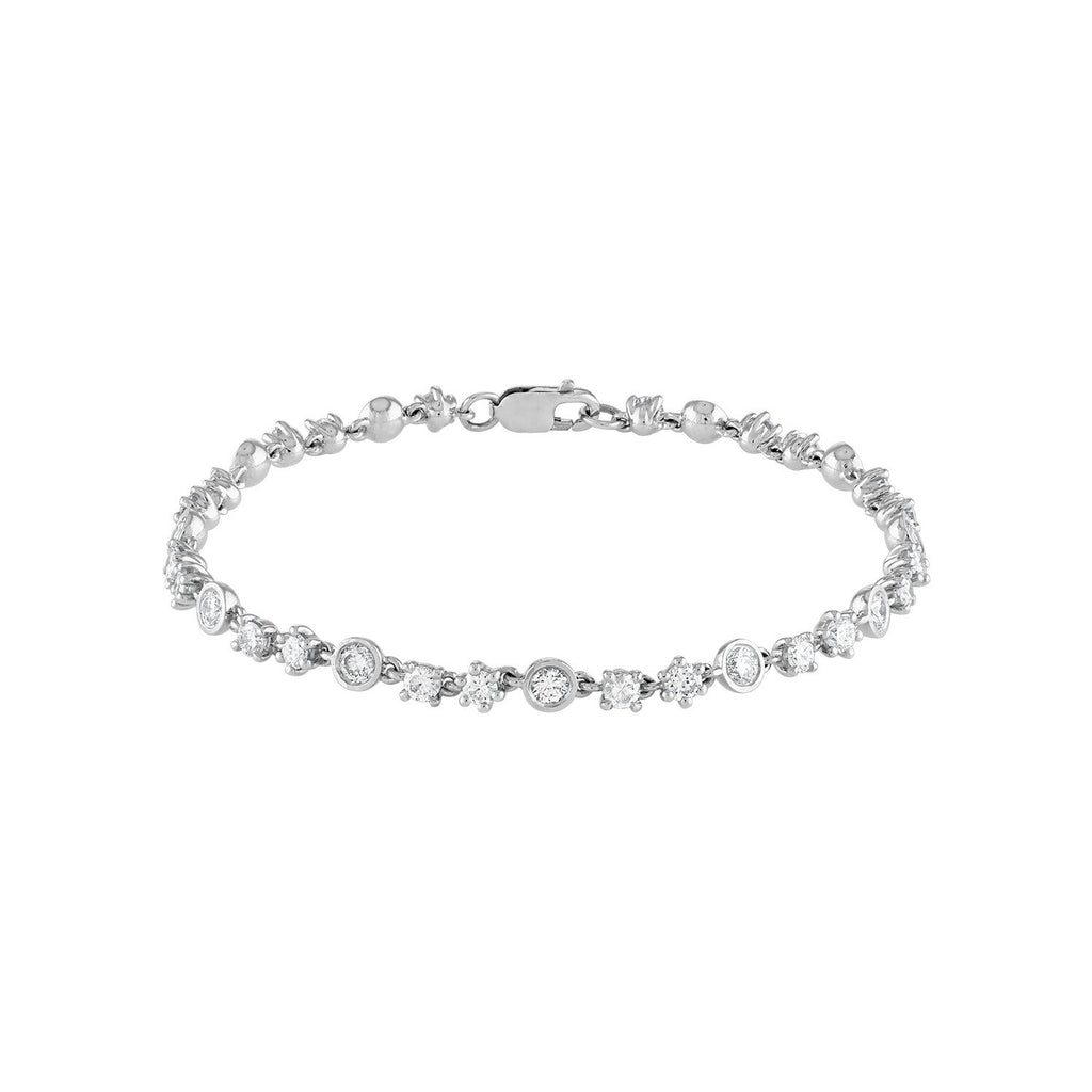 White Gold Tennis Bracelet by Fewer Finer