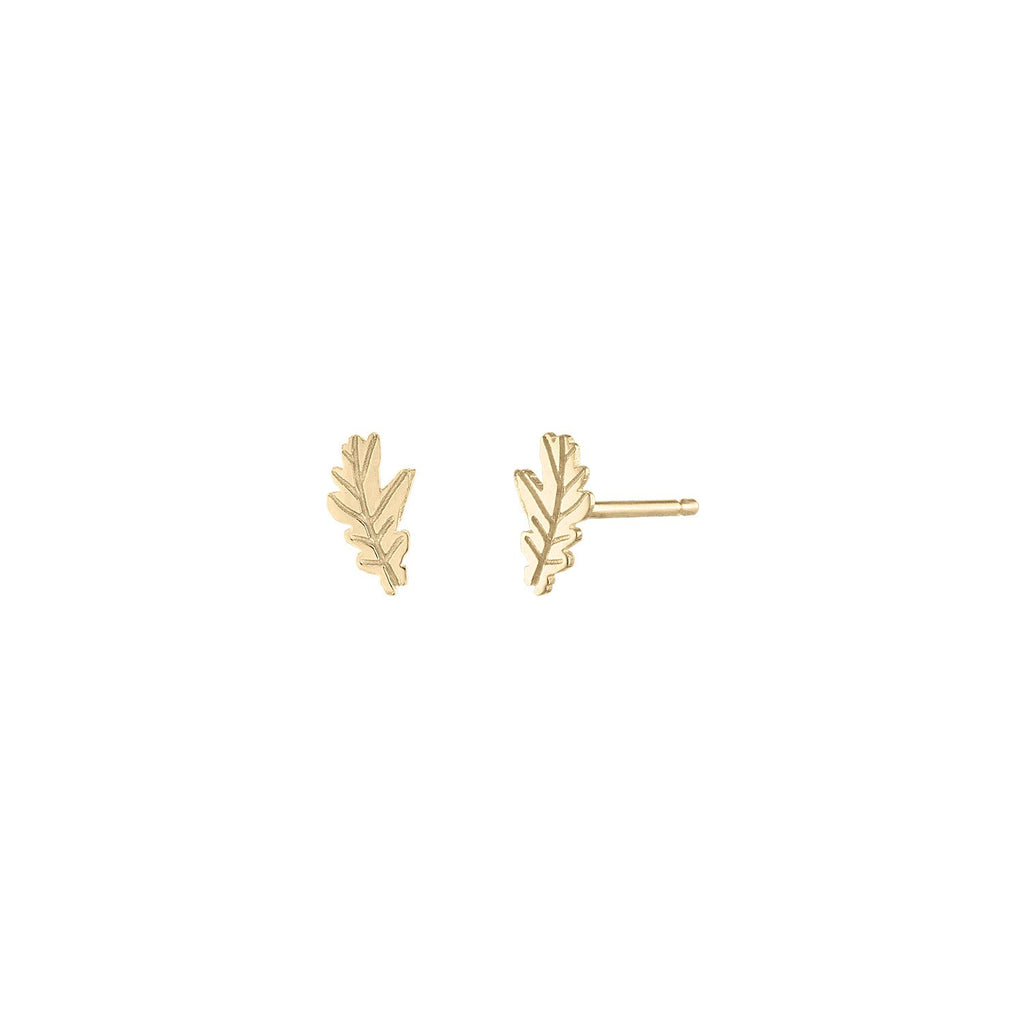 Tribeca Tree Leaf Earrings by Fewer Finer