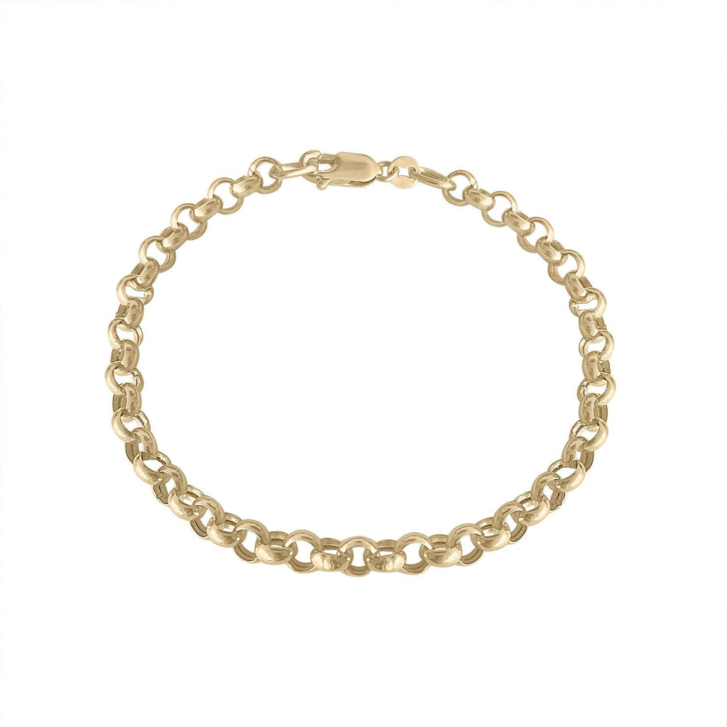 Vintage Gold Round Link Bracelet by Fewer Finer